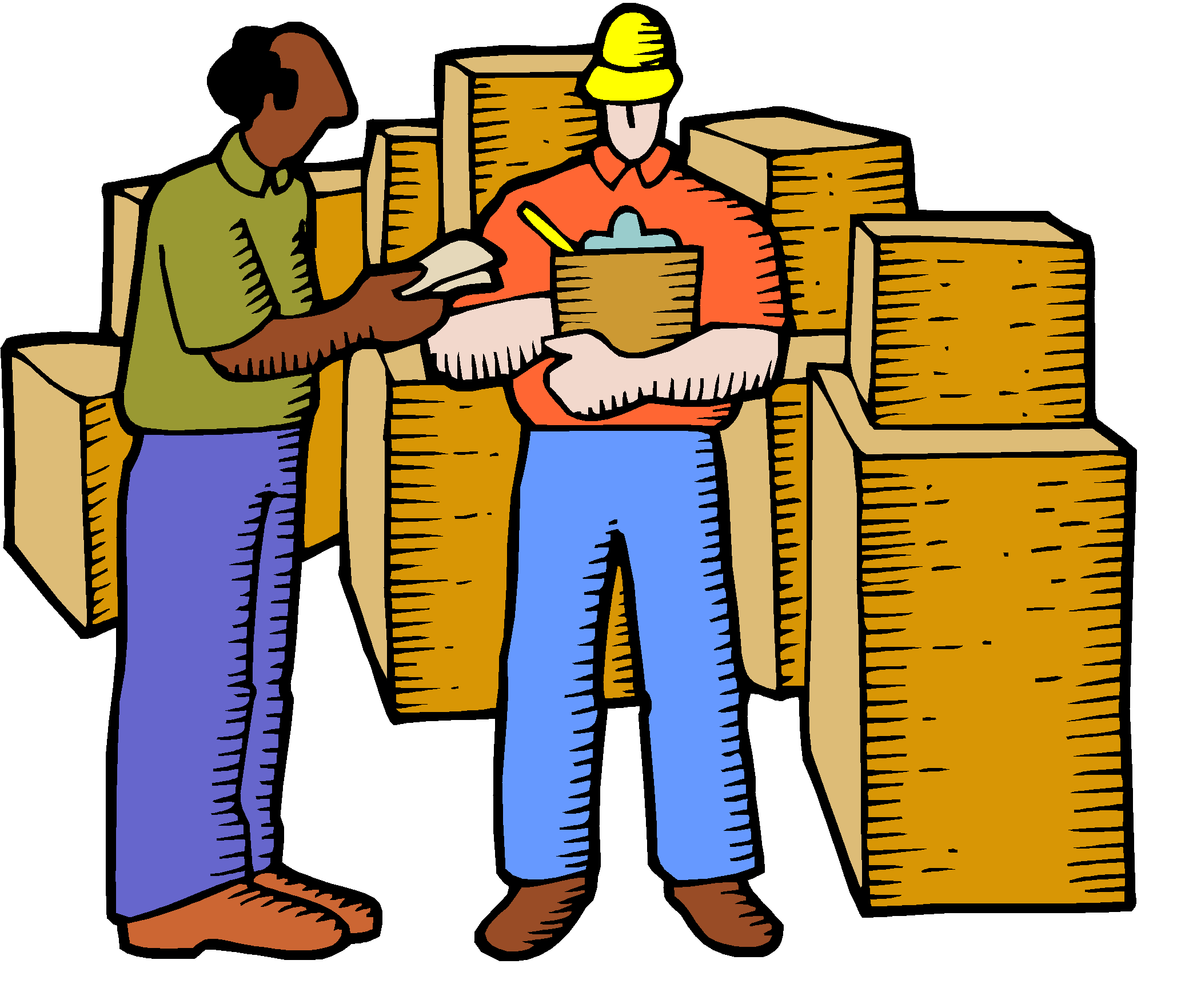 Clipart box distributor. Collection of free distributed