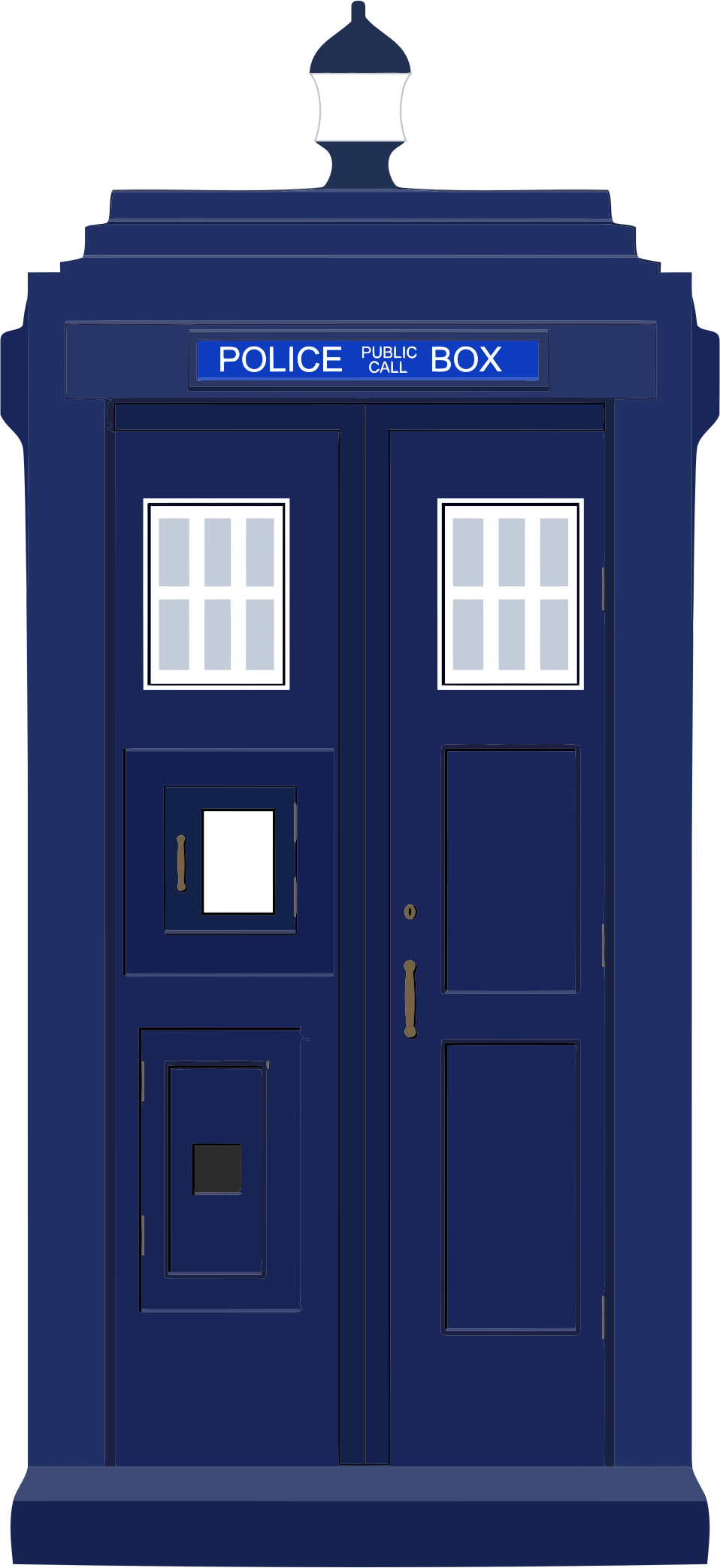 Blue police box big. Telephone clipart cabin