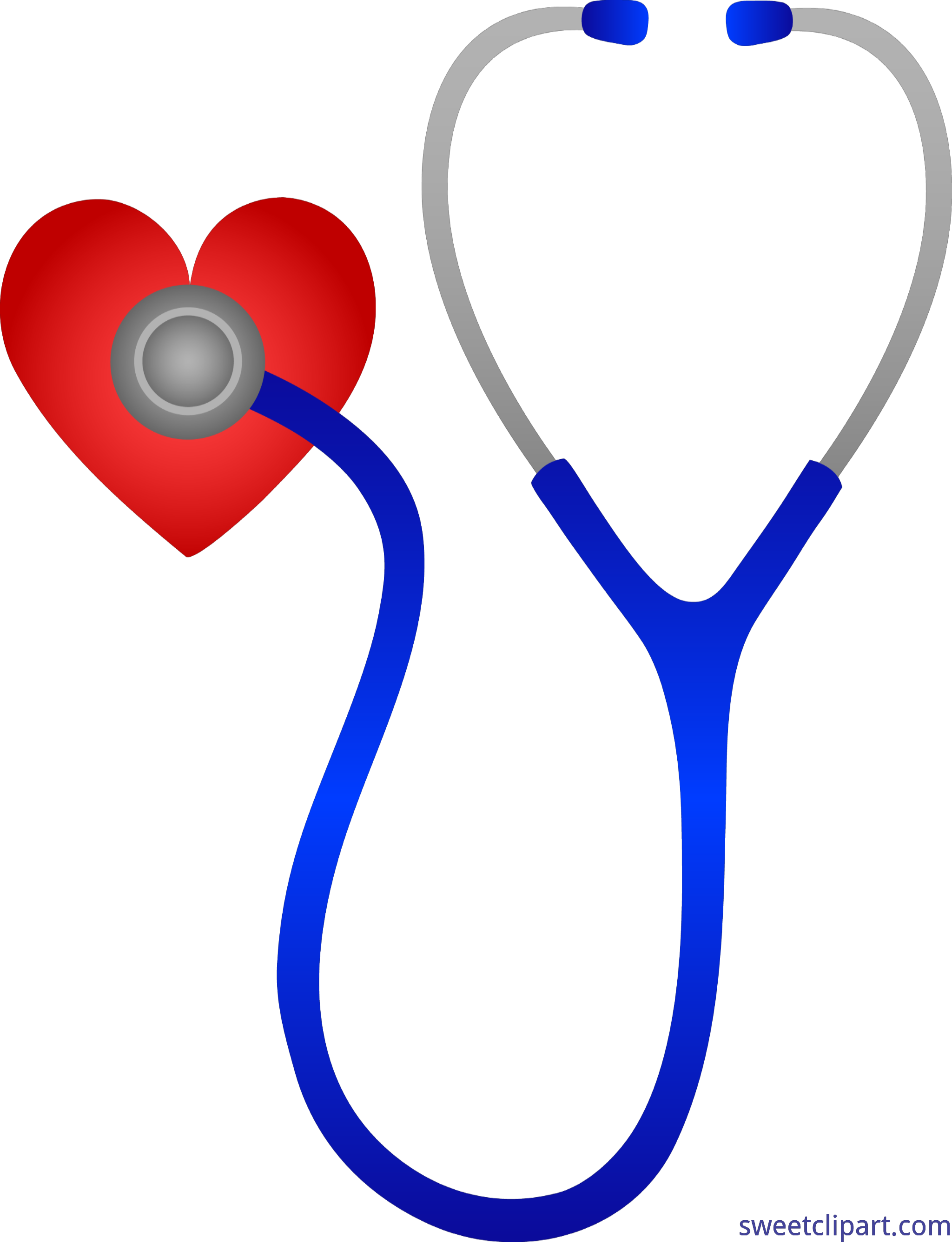 Heartbeat clipart doctor. Doctors stethoscope with heart