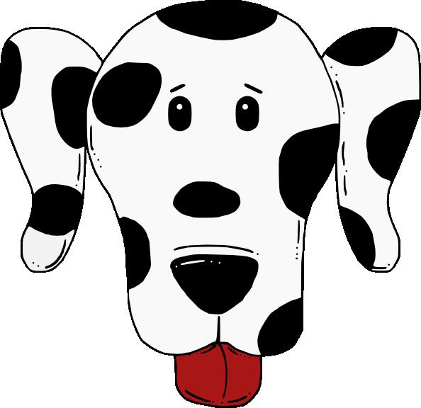 Dot clipart spotty. Dog clip art at