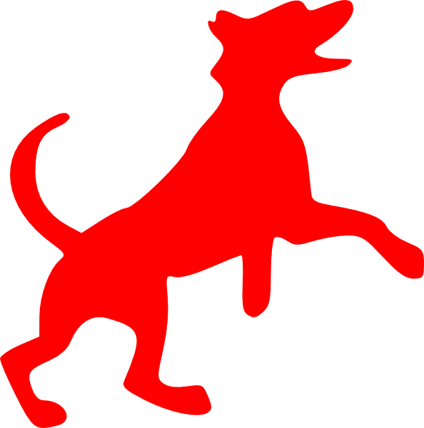 Clipart box dog. Red dancing clip art