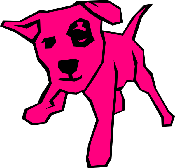Pink dog clip art. Dogs clipart box