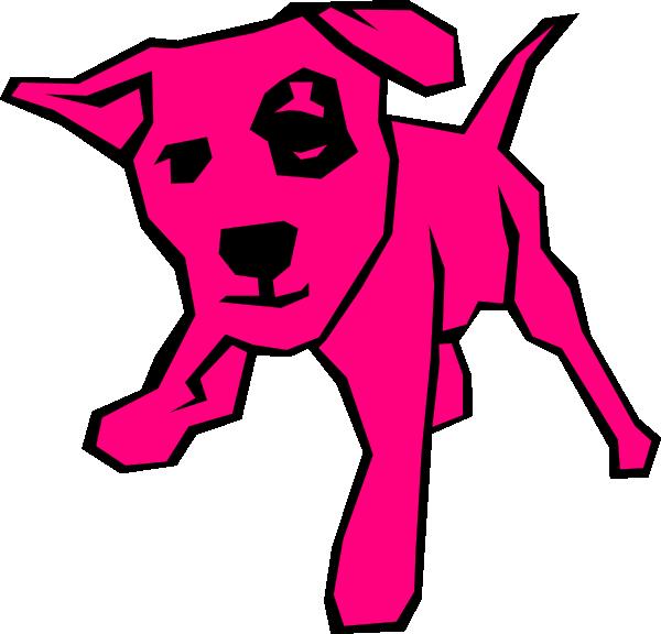 Pink clip art at. Clipart box dog