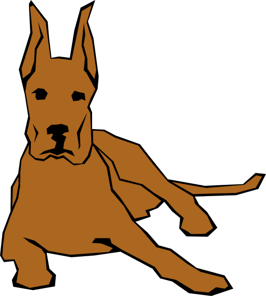 Clipart box dog. Resting in color clip