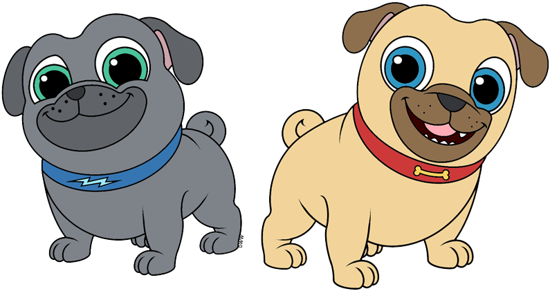 Puppy dog pals clip. Clipart dogs pug