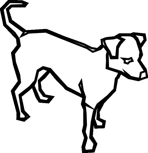 Pet clipart gog. Dog outline clip art