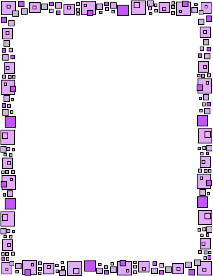 Floral page frame yahoo. Ruler clipart purple