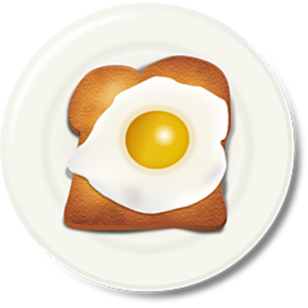 Toast breakfast free images. E clipart egg clipart