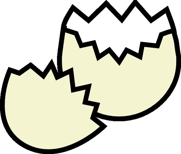 Cracked clip art at. E clipart egg clipart