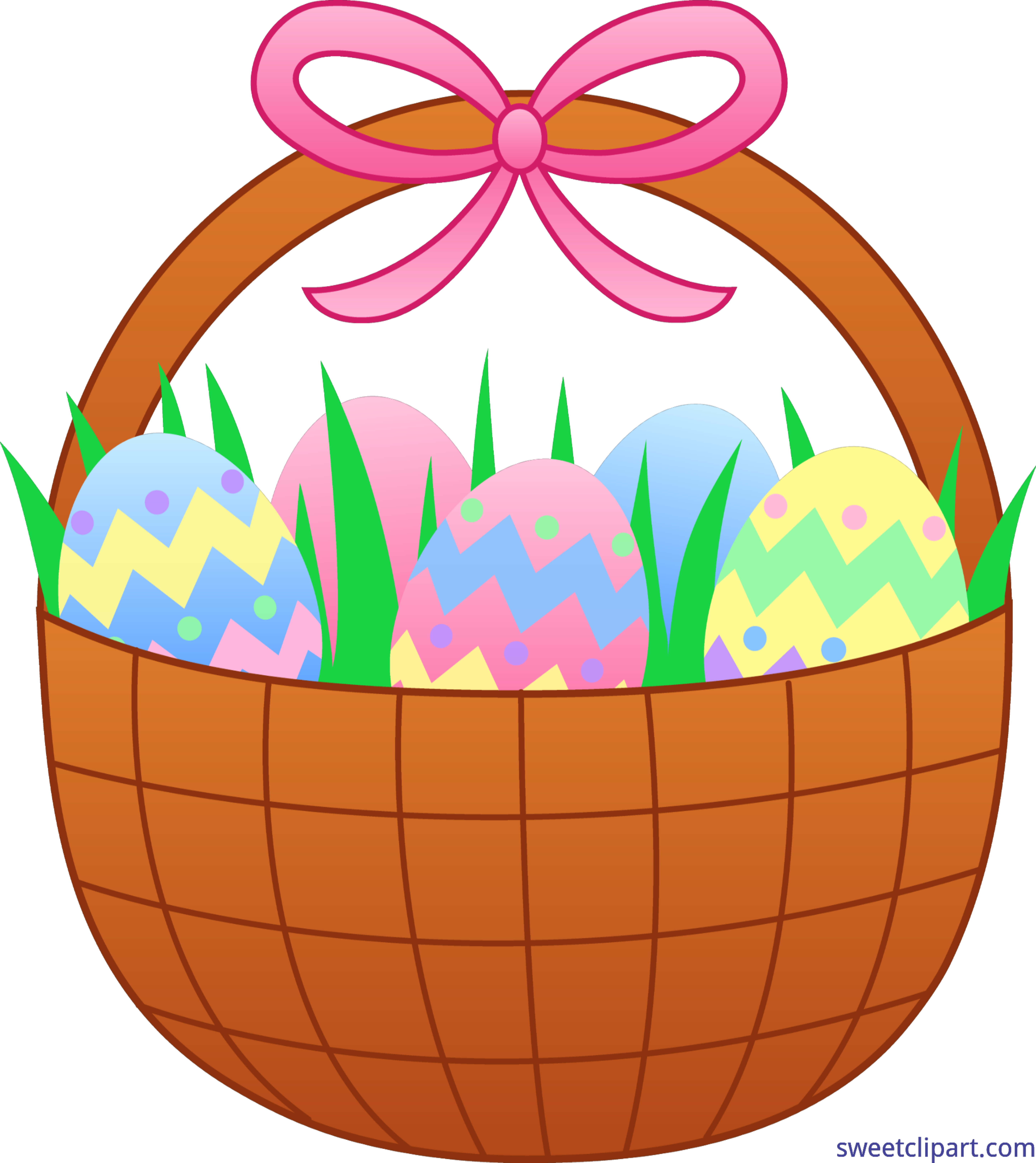 Gavel clipart pink. Cute easter basket with