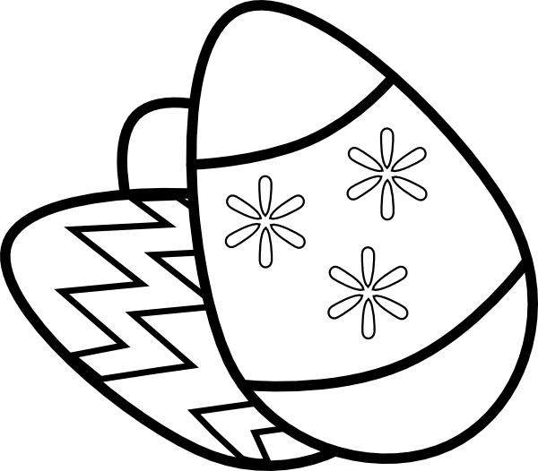 Easter eggs clip art. Clipart exercise drawing