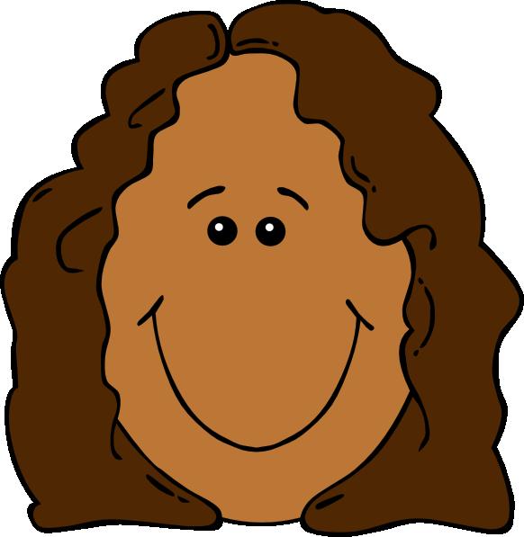 Cartoon girl clip art. Clipart box face