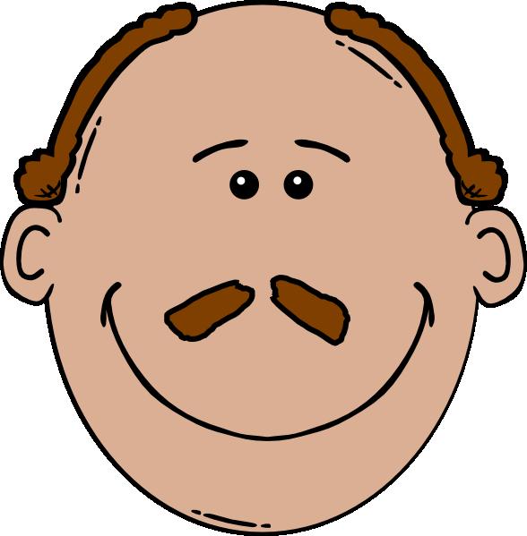 Bald face with a. Clipart mustache man hair