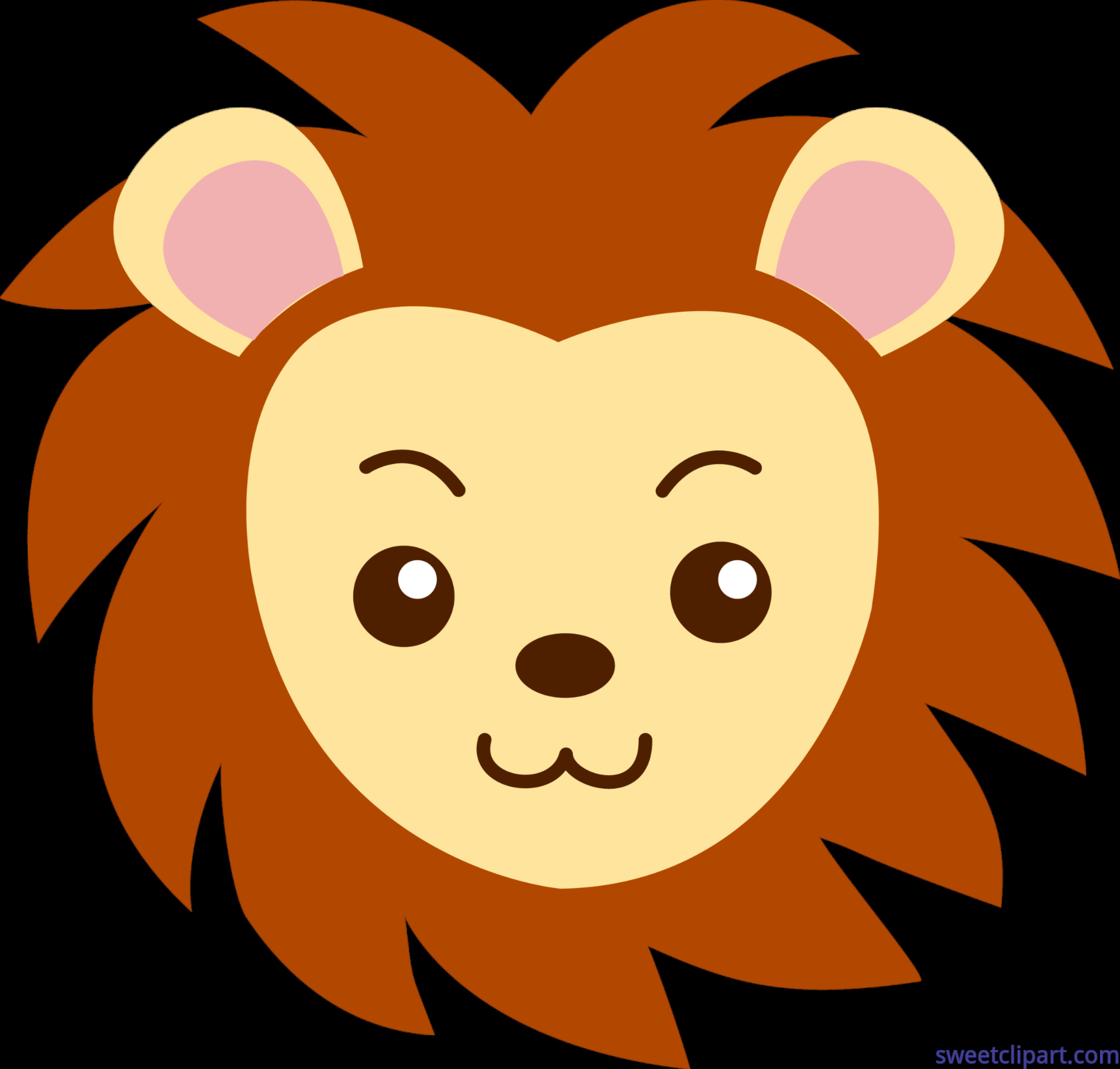 Clipart box face. Lion clip art sweet