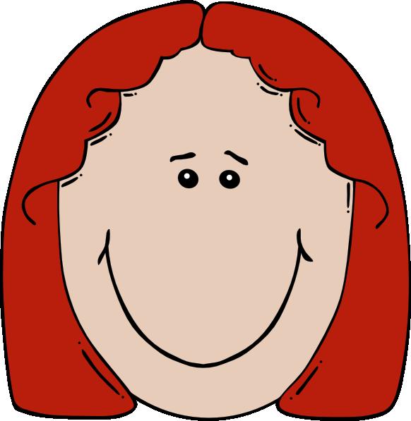 Lady face cartoon clip. Nose clipart facial feature
