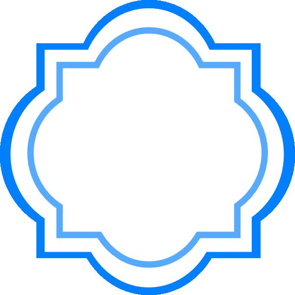 Blue fancy clip art. Label clipart lable