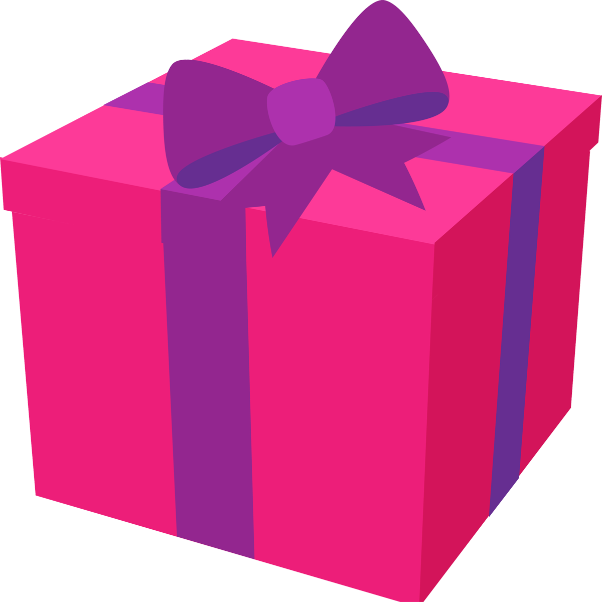 Happy present . Clipart rose birthday