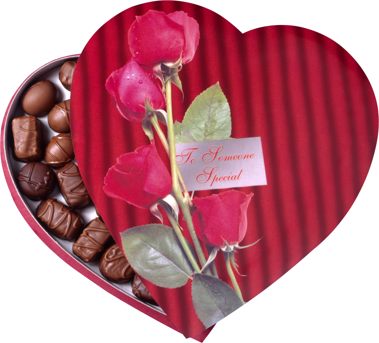 Clipart roses chocolate. Image heart shaped box