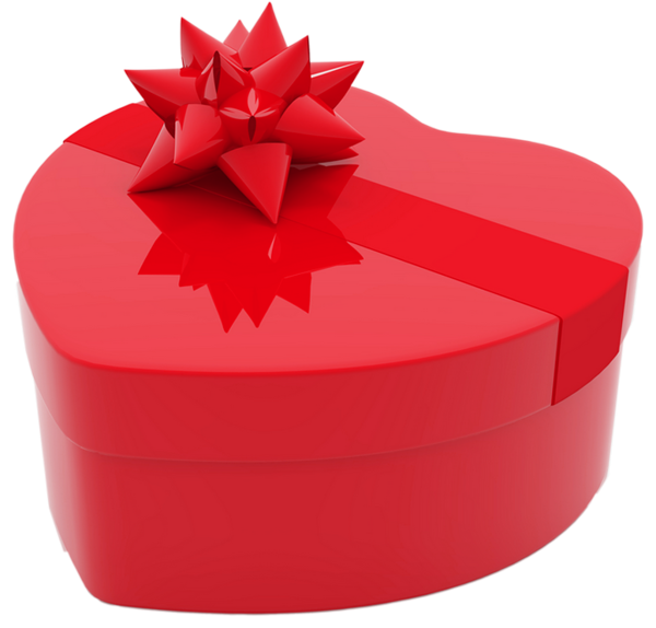 Valentines day gift png. Clipart box heart