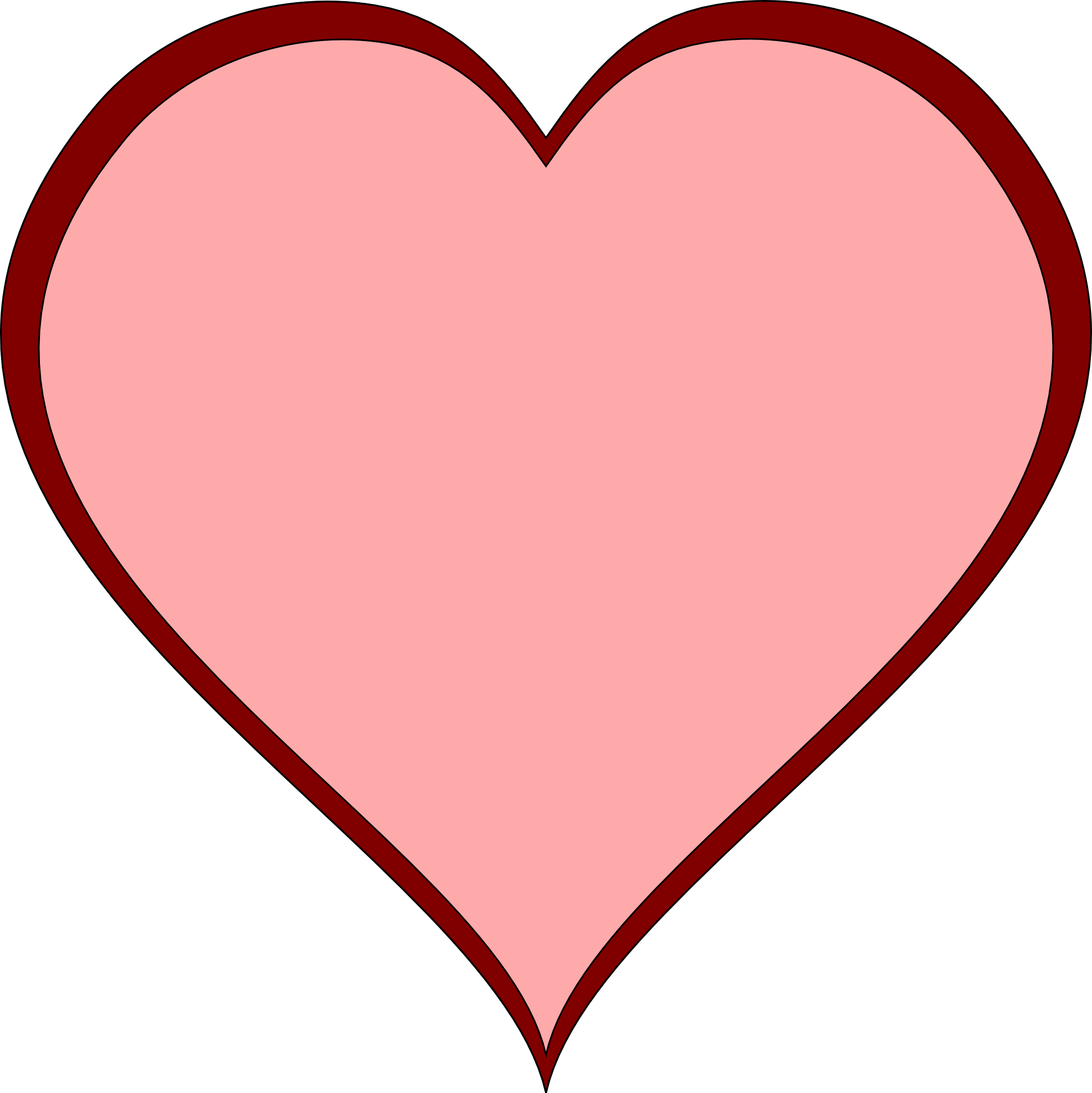 Shaped open pencil and. Clipart box heart