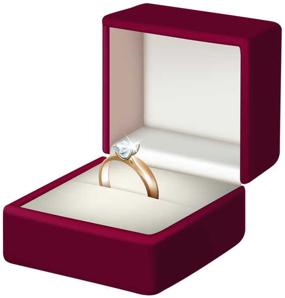 Engagement ring transparent png. Clipart box jewelry