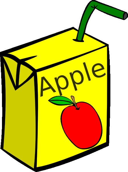 Drinks clipart box. Apple juice clip art