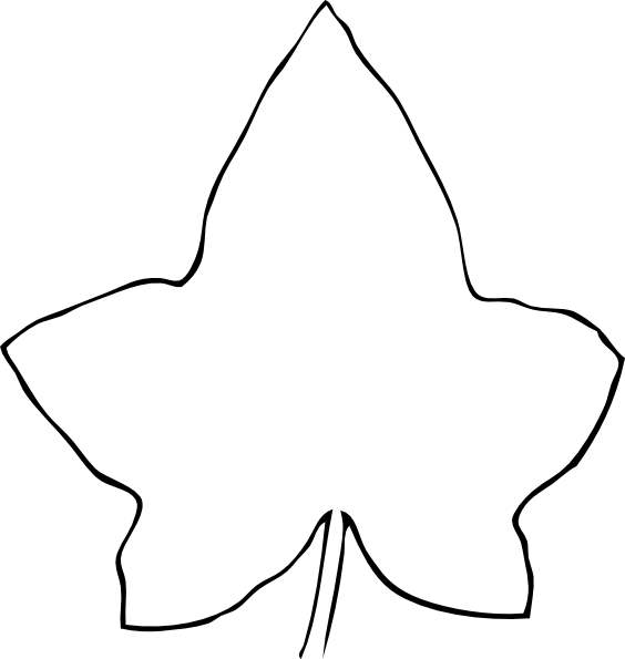 Line drawing leaf clip. Microscope clipart draw