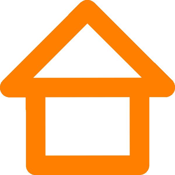 Clipart house orange. Outline clip art at