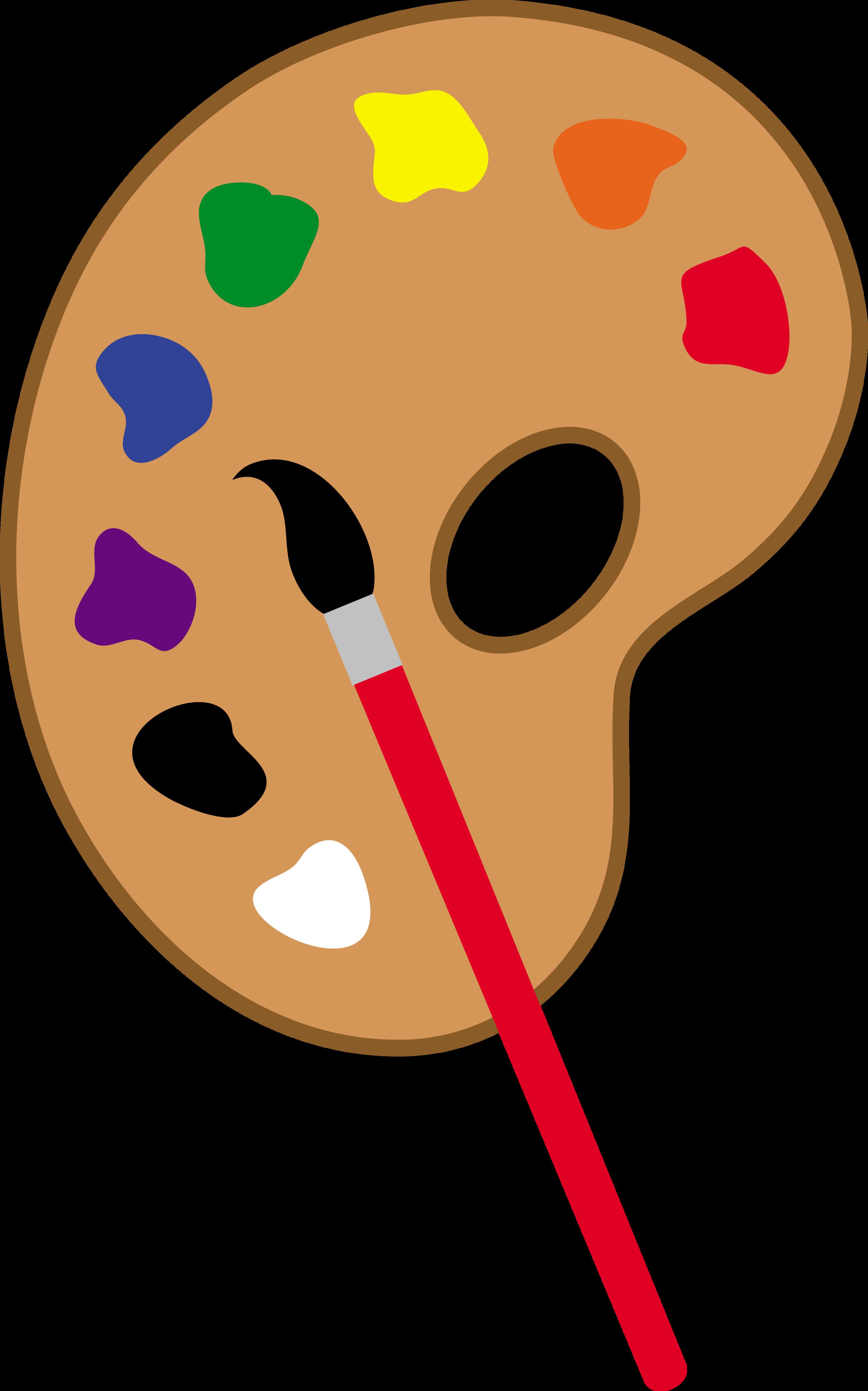 Paintbrush clipart paint holder. Art pallet pencil and