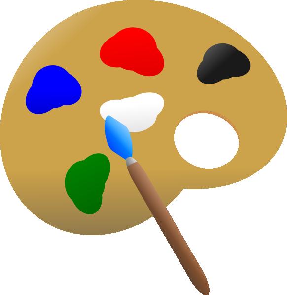 Paint palette clip at. Painting clipart art pallet
