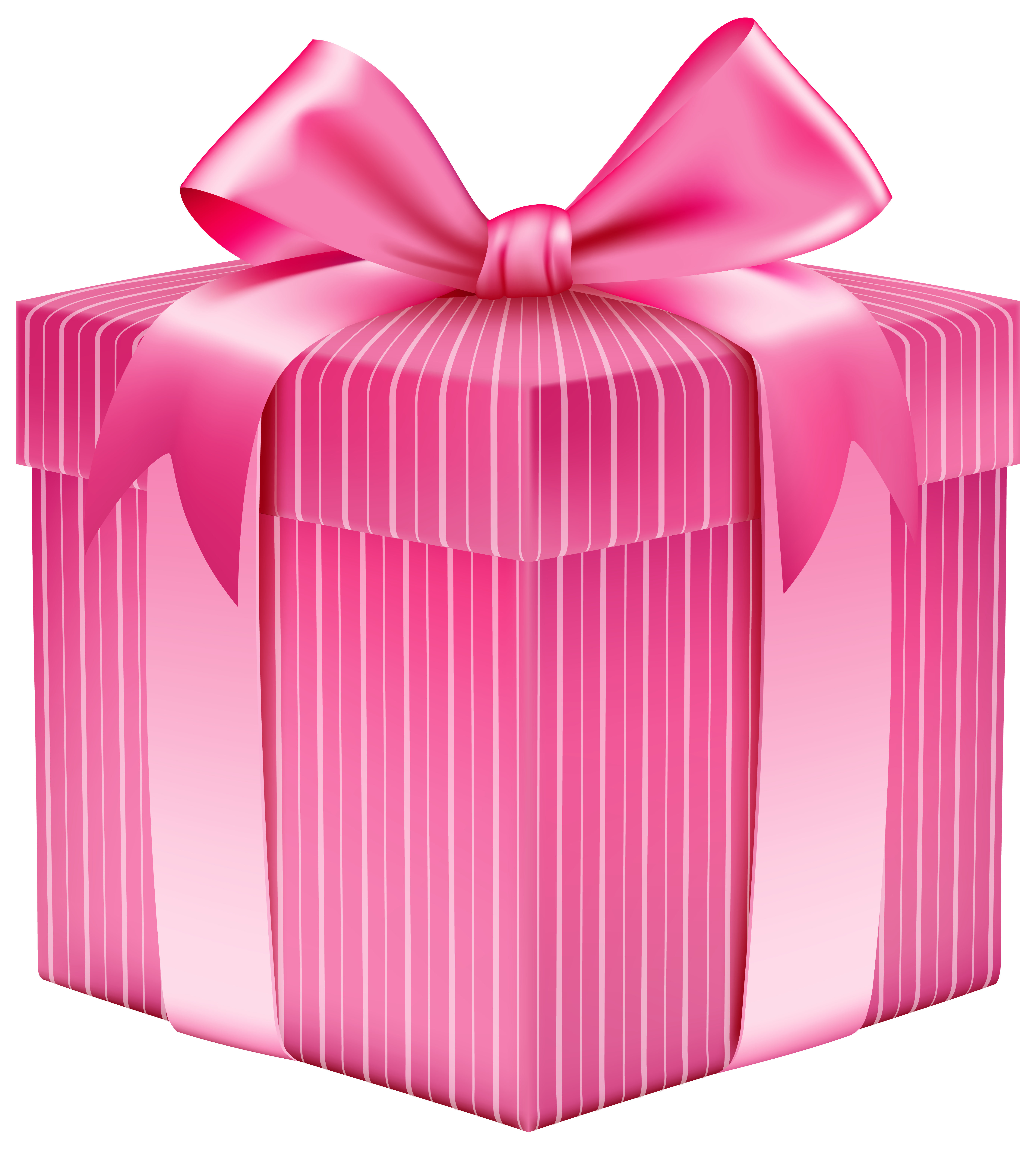 Striped box png picture. Gift clipart pink gift