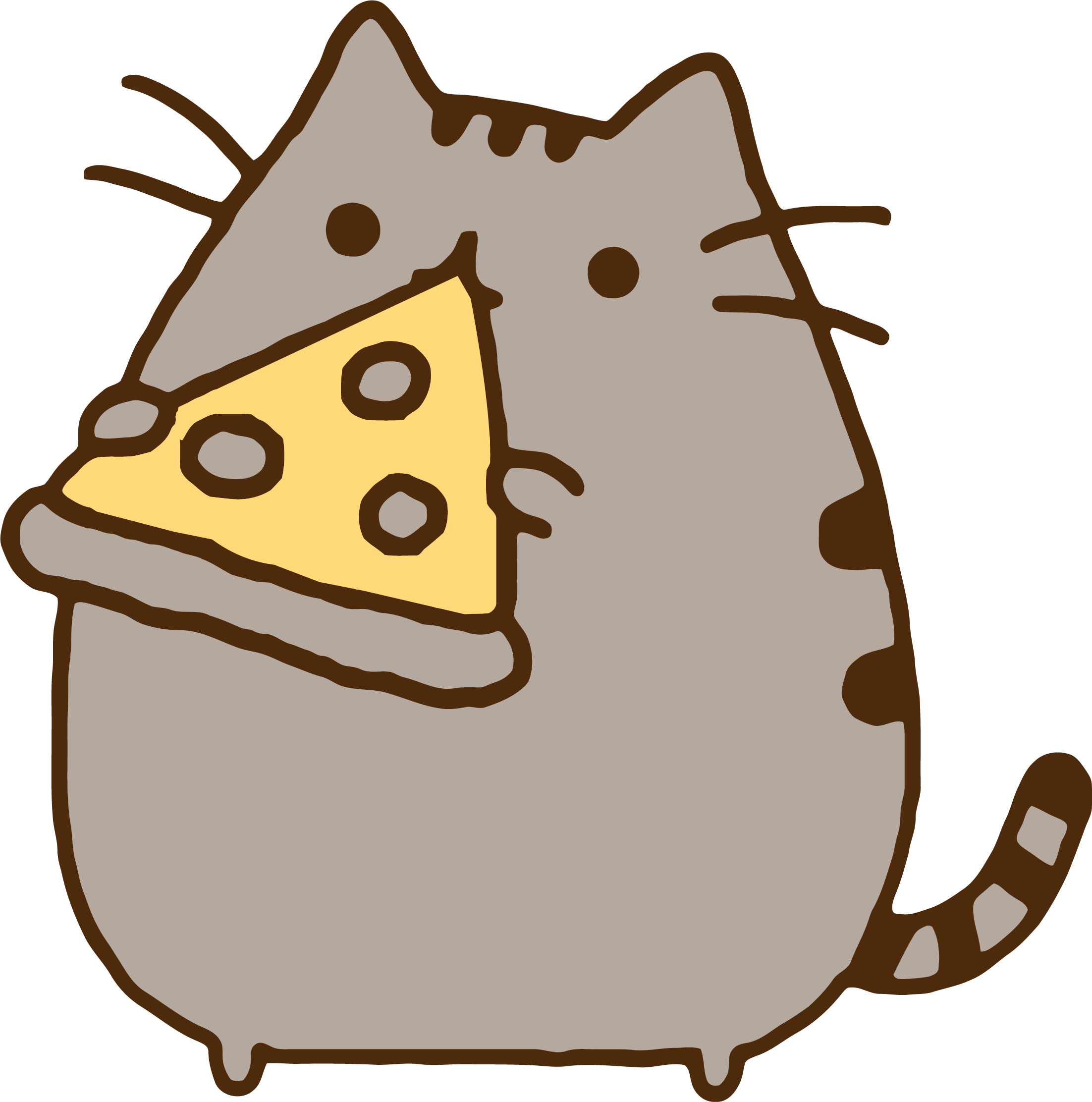 Motorcycle clipart pizza. Pusheen eating cat cats