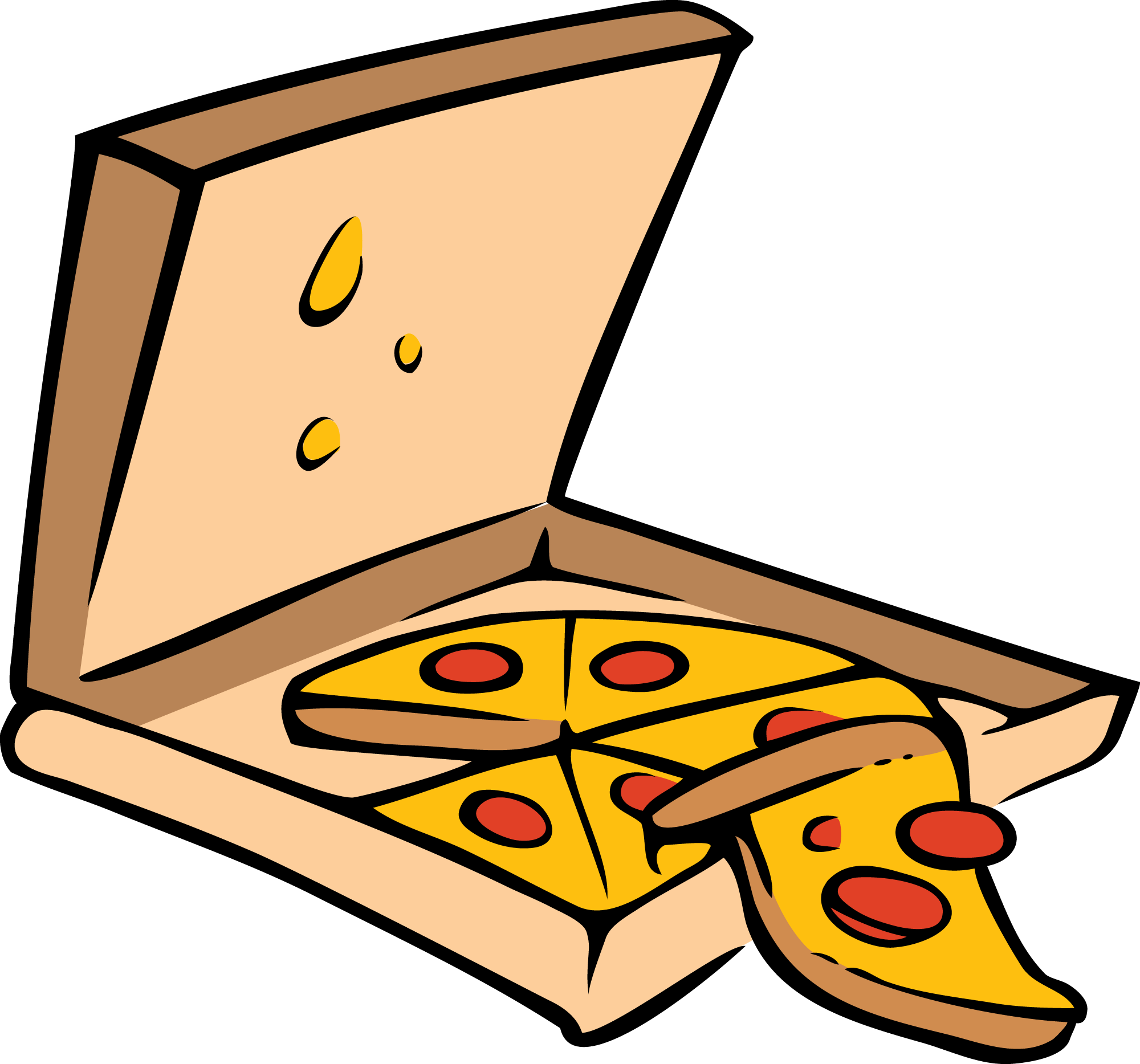 Clipart box pizza.  collection of free