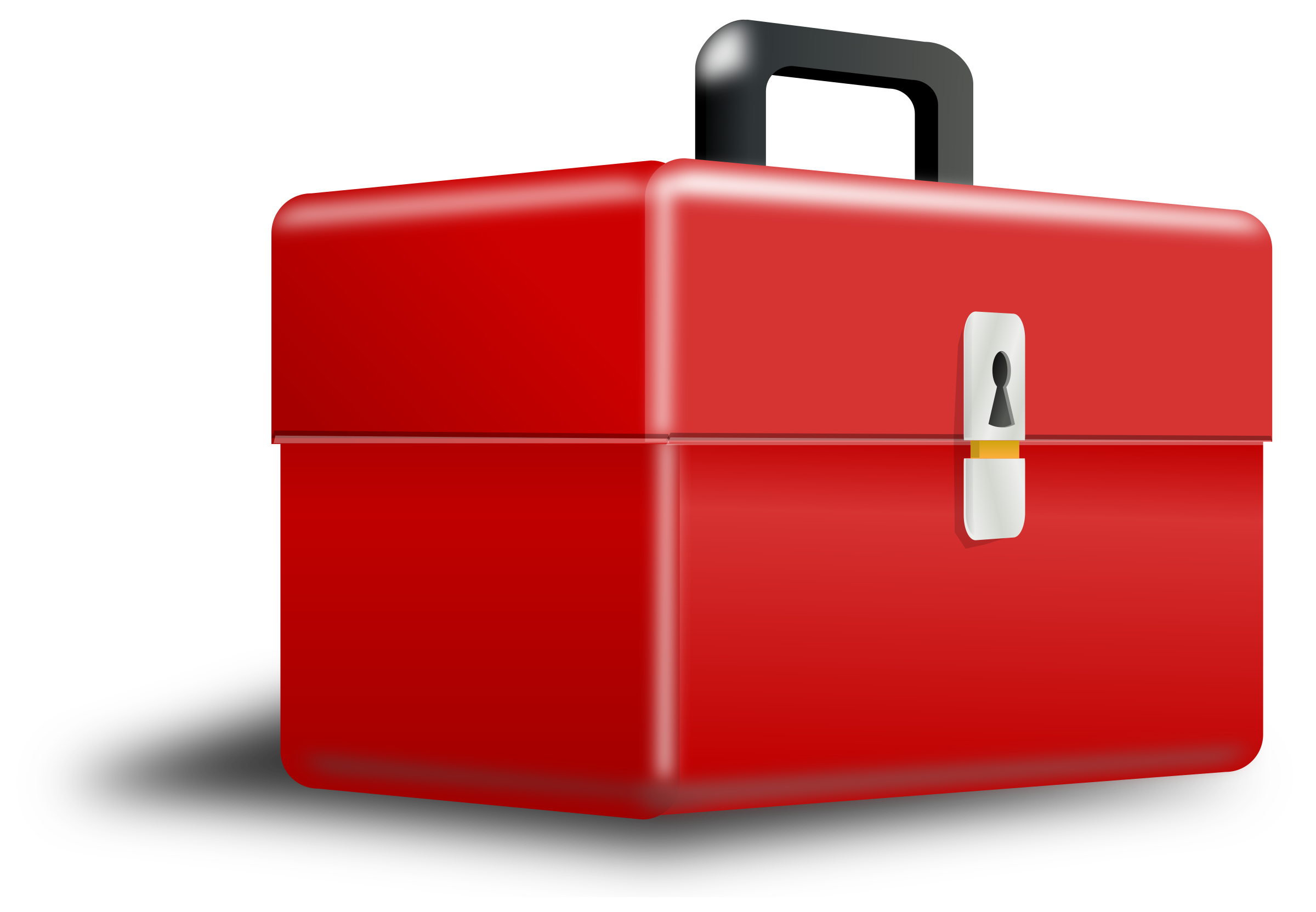 Luggage clipart red. Metallic box with perspective