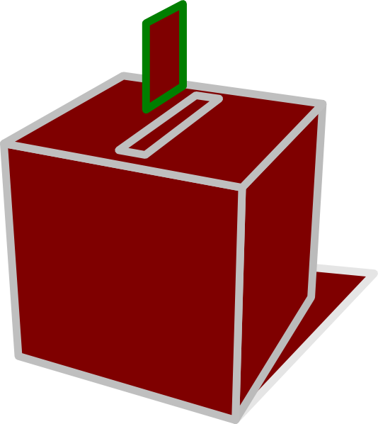 Voting clipart vector. Red box clip art