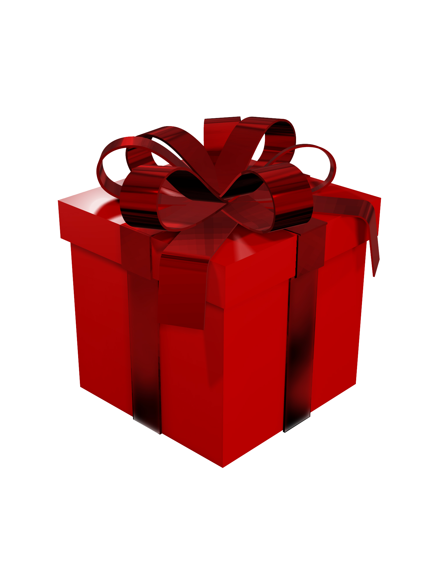 Red Gift Box Clipart