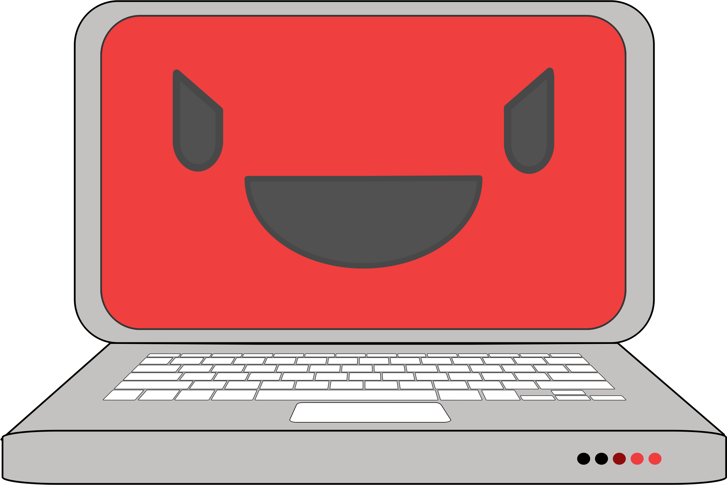 Virus removal and malware. Computer clipart red