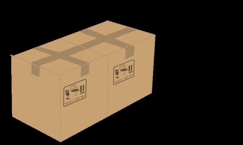 Two boxes medium image. Clipart box shipping box