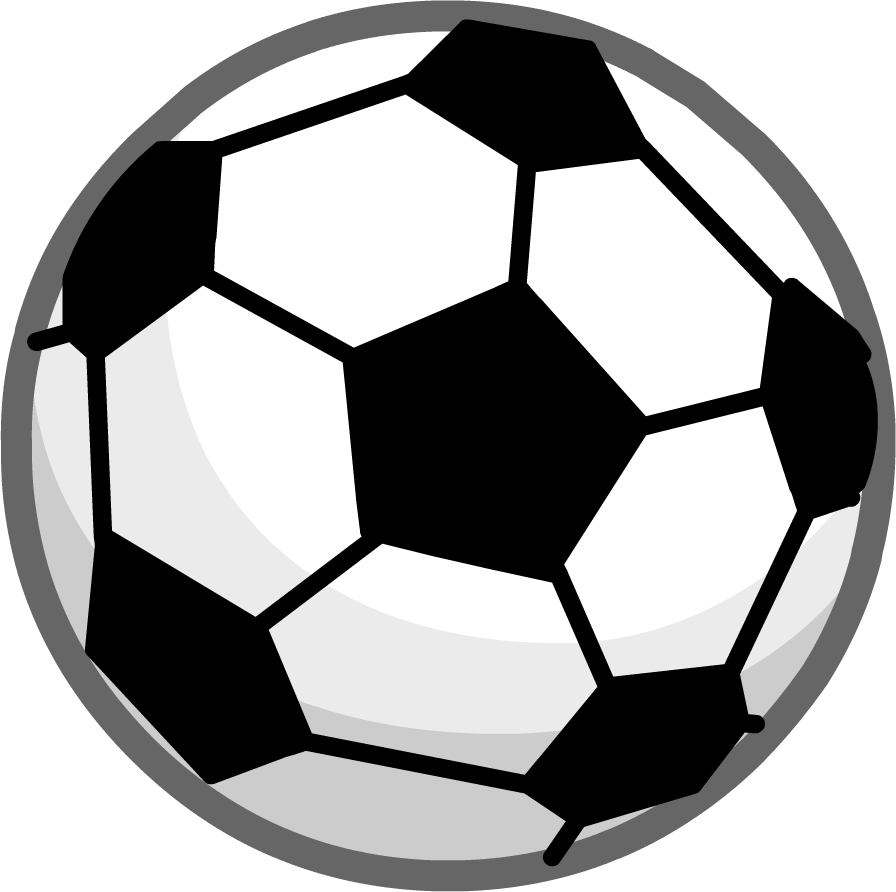 Soccer ball club penguin. Clipart football template