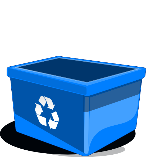 Clipart box storage bin. Recycle clip art at