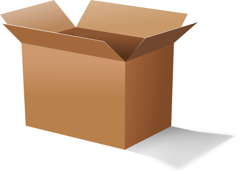 Cardboard moving boxes or. Clipart box storage bin