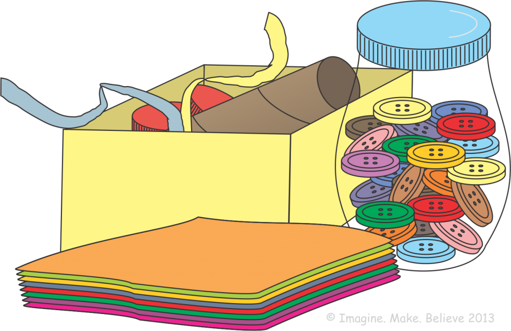 Supplies list imagine make. Craft clipart painting supply