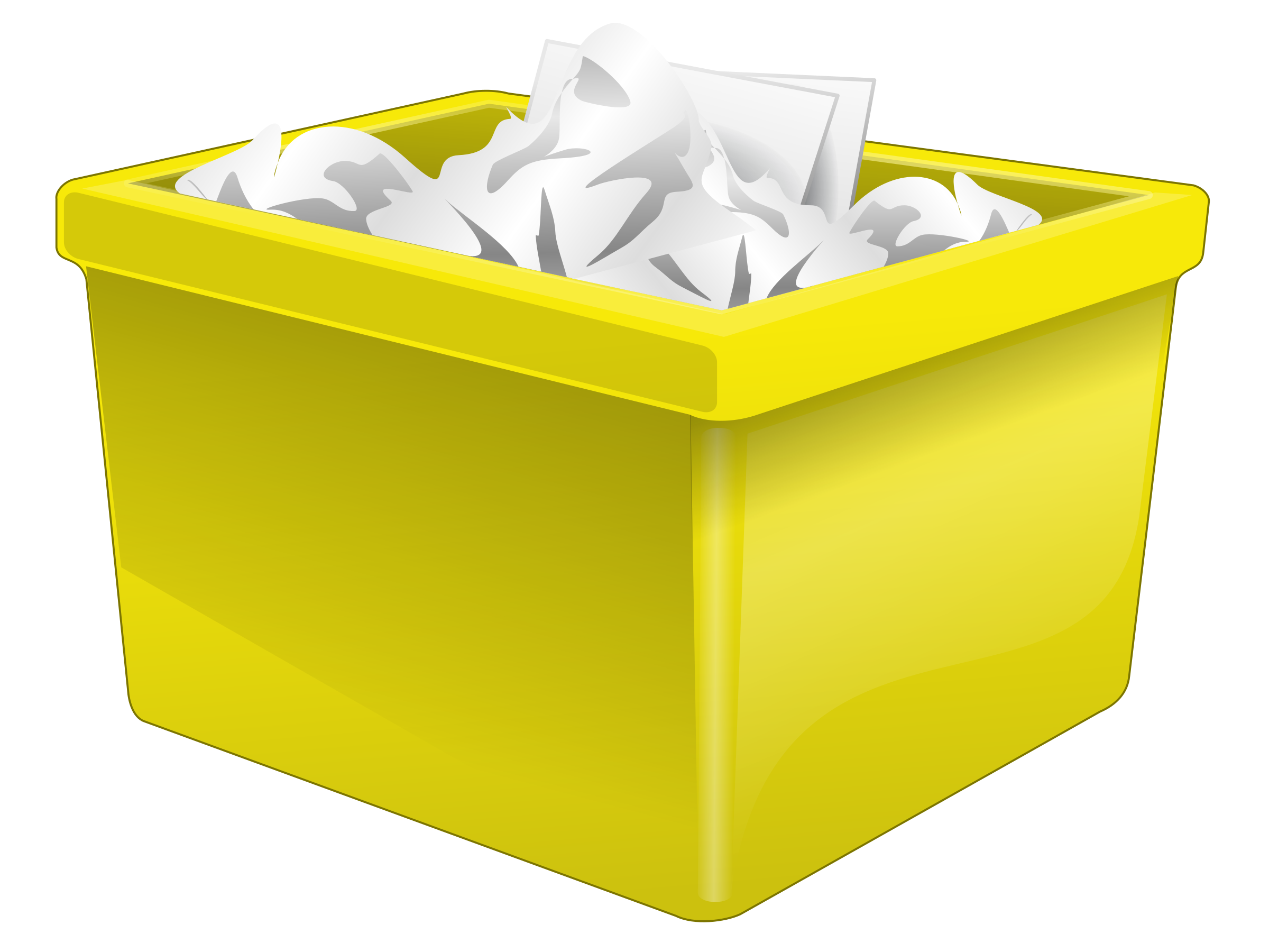 Clipart box supply. Yellow plastic filled with