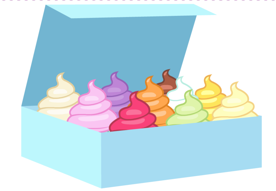 Objects of cupcakes by. Clipart box supply
