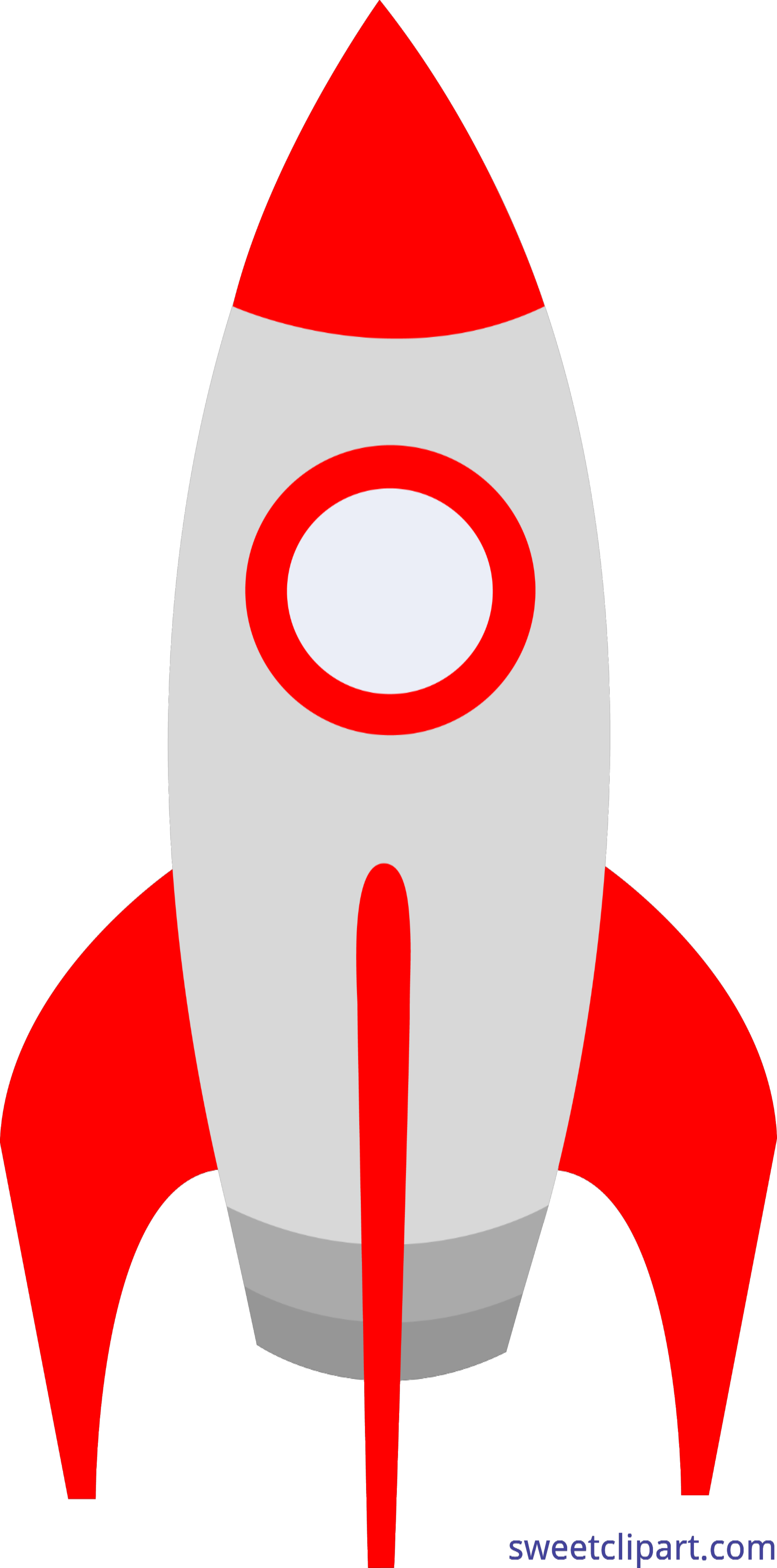 Cute rocket clip art. Clipart science red