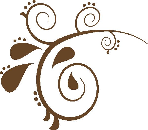 Brown swirl clip art. Design clipart vector