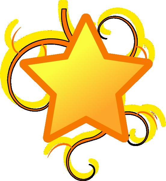 Star swirl clip art. R clipart colorful