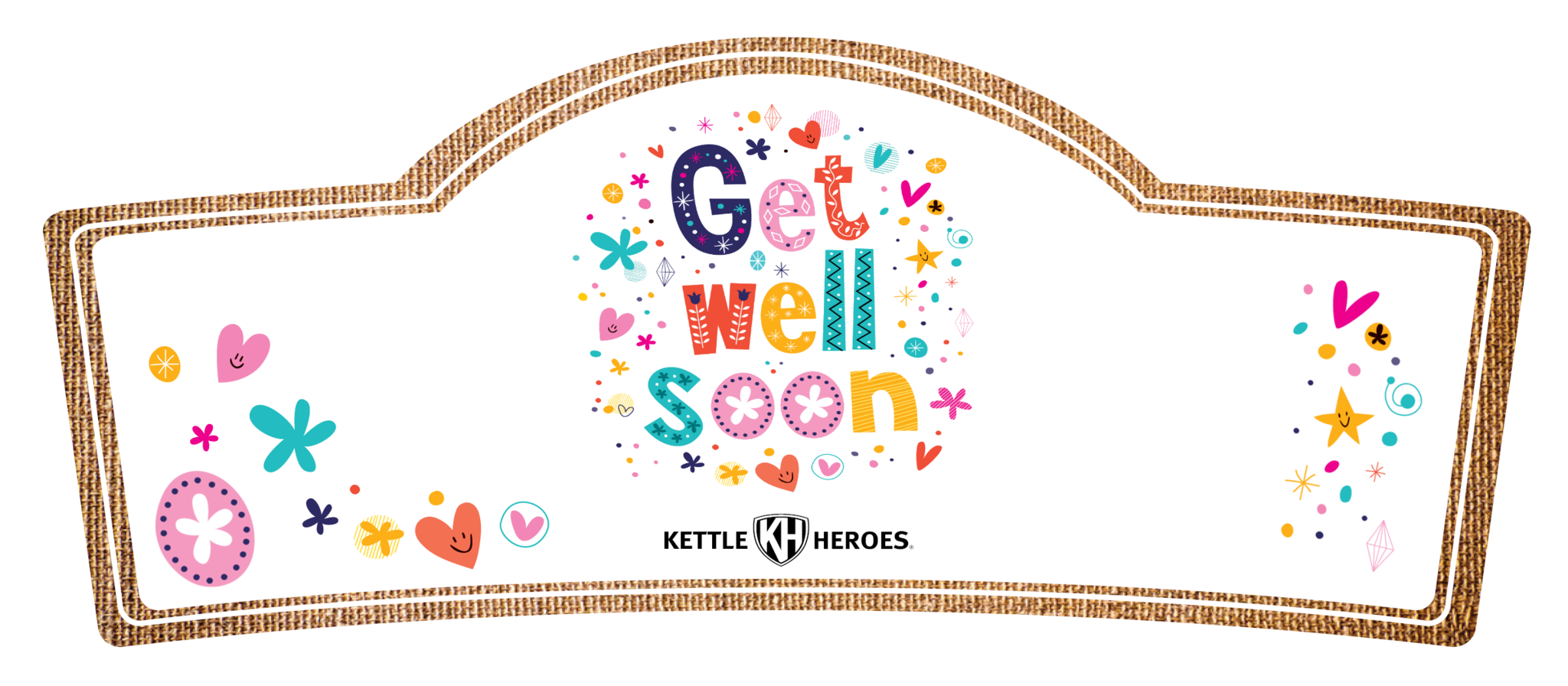 Get well soon gift. Fundraiser clipart popcorn
