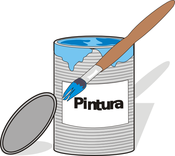 Aidiagre tin can and. Paint clipart box