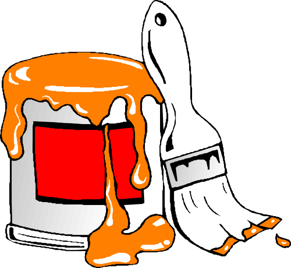 Wet clipart goods. Paint tin clip art